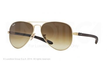 Ray-Ban RB8307 Prescription Sunglasses RB8307-112-85-55 - Lens Diameter 55 mm, Frame Color Matte Gold