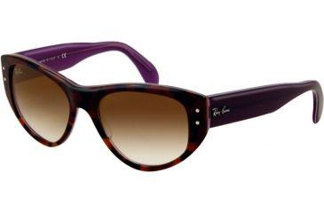 Ray-Ban VAGABOND RB4152 Bifocal Prescription Sunglasses RB4152-106651-5317 - Lens Diameter: 53 mm, Frame Color: Top Violet Gradient Havana