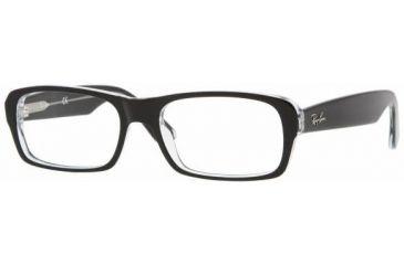 Ray-Ban RX5223 Bifocal Prescription Eyeglasses 2034-5217 - Top Black On Transpare