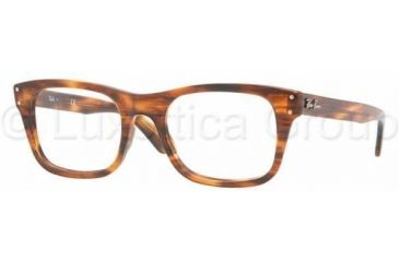 Ray-Ban RX5227 Single Vision Prescription Eyewear 2144-5220 - Striped Havana