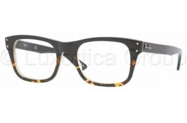 Ray-Ban RX5227 Single Vision Prescription Eyewear 5028-5220 - Black Grad Havana/Yel