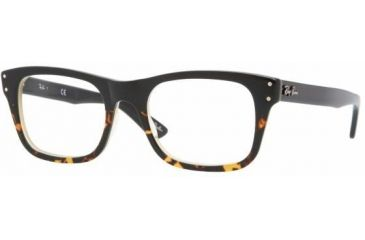 Ray-Ban Vista RX5227 Eyeglass Frames 5028 -5220 - Black Grad Havana/Yel