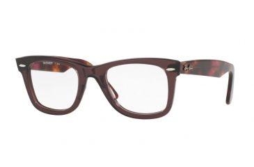 76d31701d527 Ray-Ban WAYFARER RX5121 Single Vision Prescription Eyeglasses 5628-47 -  Opal Brown Frame