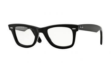 fdc60b96348 Ray-Ban WAYFARER RX5121F Eyeglass Frames 2000-50 - Shiny Black Frame