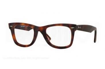 a64cdc771b0cf Ray-Ban WAYFARER RX5121F Single Vision Prescription Eyeglasses 5195-50 -  Matte Leopard Havana