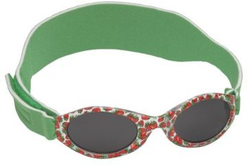 Real Kids My First Shades Sunglasses for 0-24mo - Red Strawberries with Green Band 024GRNSTRWBRY