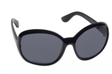 Real Kids Shades Fabulous Sunglasses - Black Shiny Temple Temple Frame 7-12 Years, Black, 7-12 Years 712FABBLK