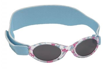 Real Kids Shades 0-24 Months My First Shades Sunglasses - Pink/Blue Butterflies w/ Blue Adjustable Band 024BLUBTRFLY