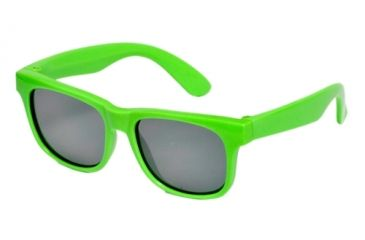 Real Kids Shades Neon Green Wayfarer Flex Fit Frame with Green Mirror Lens 7+, Unisex 7SURNGR