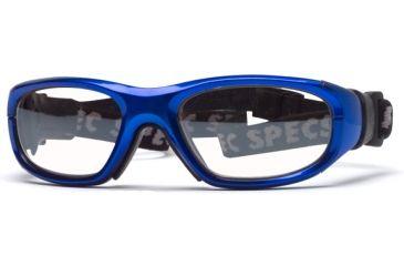 Rec Specs MX-21 Protective Eyewear Bright Blue Frame,Clear Lens, Unisex MX-21BLBK4817C