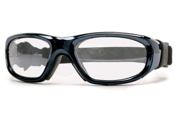 Rec Specs MX-21 Protective Eyewear Chrome Frame,Clear Lens, Unisex MX-21LCHR4817C