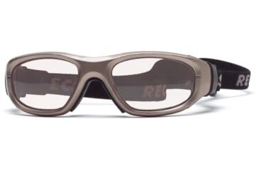 Rec Specs MX-21 Protective Eyewear Metallic Light Brown Frame,Clear Lens, Unisex MX-21MEBR4817C
