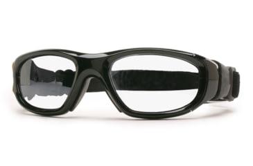 Rec Specs MX-21 Protective Eyewear Shiny Black Frame,Clear Lens, Unisex MX-21SHBK4817C