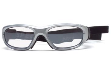 Rec Specs MX-21 Protective Eyewear Silver Frame,Clear Lens, Unisex MX-21PLSI5117C