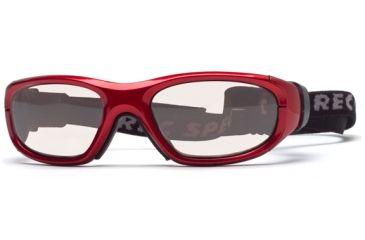 Rec Specs MX-21Protective Eyewear Crimson Frame,Clear Lens, Unisex MX-21CMBK5117C