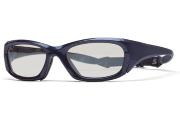Rec Specs MX-30 Protective Eyewear Shiny Navy Blue Frame,Clear Lens, Unisex MX-30SHNB5520130C