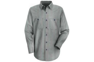 4c3f12e28 Red Kap Industrial Stripe Work Shirt, Men, Charcoal/Red/White Str,