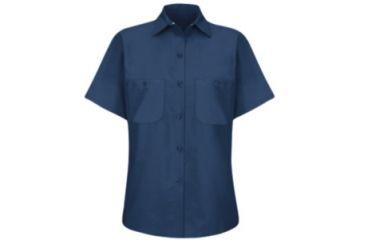 Red Kap Industrial Work Shirt, Navy, SSL SP23NVSSL