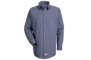 0bc76dd42 Red Kap Micro-Check Uniform Shirt, Men, Blue/Charcoal, LN3XL SP10EXLN3XL
