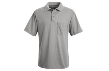 Red Kap Performance Knit Polyester Solid Shirt, Men, Ash, SS5XL SK02AHSS5XL