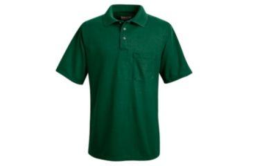 Red Kap Performance Knit Polyester Solid Shirt, Men, Hunter Green, SSL SK02HGSSL