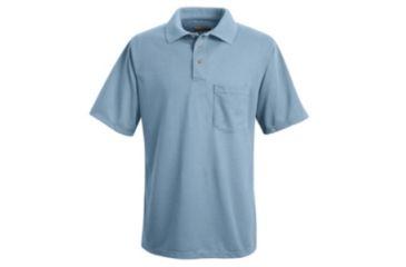 Red Kap Performance Knit Polyester Solid Shirt, Men, Medium Blue, SSL SK02MBSSL