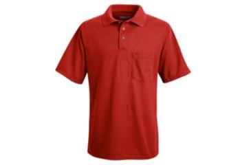 Red Kap Performance Knit Polyester Solid Shirt, Men, Red, SSL SK02RDSSL