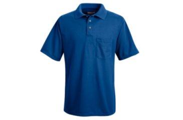 Red Kap Performance Knit Polyester Solid Shirt, Men, Royal Blue, SSL SK02RBSSL