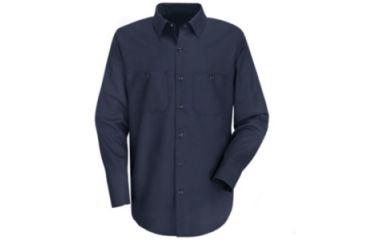 2c5e97944 Red Kap Wrinkle-Resistant Cotton Work Shirt, Men, Dark Navy, LN3XL  SC30DNLN3XL