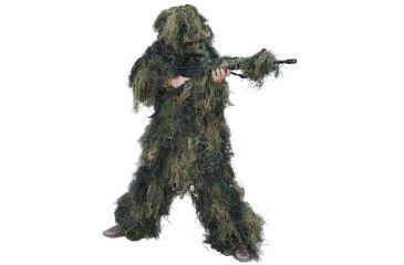 Red Rock Outdoor Gear 5 Piece Ghillie Suit, Woodland, Youth Large 70915YL