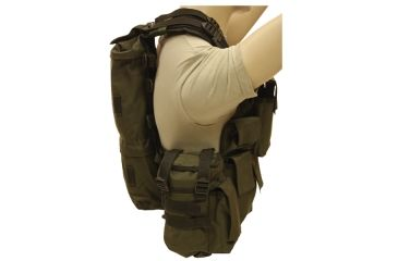 Red Rock Outdoor Gear Load Bearing Vest, Olive Drab, One-Size 510OD