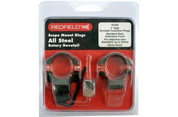 Redfield 1inch Rotary Dovetail Steel Rings, High, Black 47220