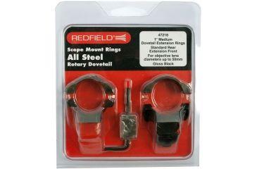 Redfield 1inch Rotary Dovetail Steel Rings, Medium, Black 47218