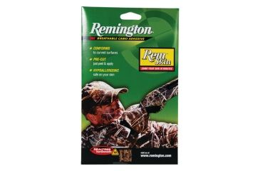 Remington Rem Skin Peel-and-Stick Camouflage For Your Face Realtree Hardwoods