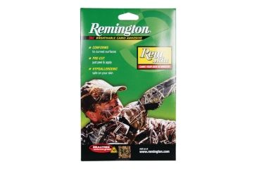 Remington Rem Skin Peel-and-Stick Camouflage For Your Face Realtree Hardwoods Green