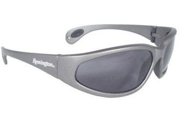 Remington Shooting Glasses, Silver Frame, Smoke Lens, Polarized T70-P