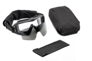 Revision Asian Locust Fan Goggles, Black - Essential Kit w/ 2 Lenses 4-0308-0030