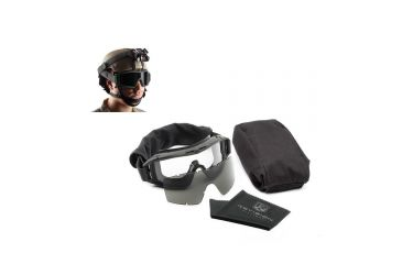 Revision Desert Locust Military Goggle & PDQ Quick Release System Combo, Black 4-0309-9509