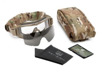 Revision Desert Locust Military Goggle System, Tan w/ Clear & Smoke Lenses  499
