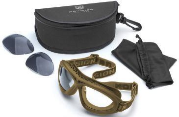 Revision Bullet Ant Tactical Goggles, Tan, Essential Kit - Clear, Solar Lenses 4-0045-0211
