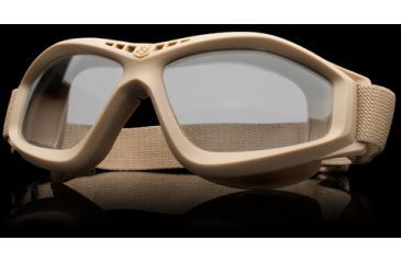 Revision Military Eyewear Bullet Ant Tactical Goggle Basic Kit - Clear Lens, Tan Frame 4-0045-0116