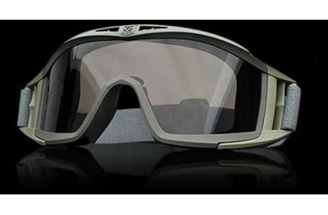 Revision Eyewear Desert Locust Goggles - Green Frame, Smoke Solar Lens