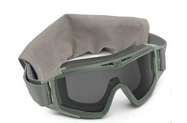 Revision Eyewear Desert Locust Goggles Basic Kit - Smoke-Solar Lens, Green