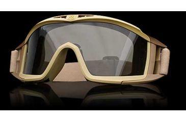 Revision Desert Locust Basic Goggles - Tan Frame, Smoke/Solar Lens