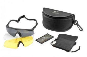 Revision Sawfly Eyeshield Deluxe Kit - Regular Black, Clear, Solar Yellow Lenses 400760211