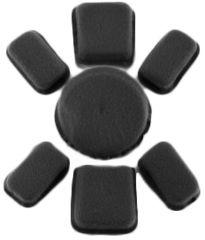 Revision Viper A1 Pad Liner, 7-Pad System, Black, .5 Inch 4-0524-9010