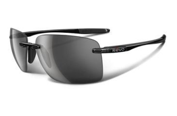Revo Descend W Polished Black Nylon Frame, Graphite Lens Sunglasses - RE4069-01