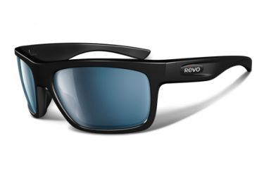 Revo Stern 4056 RX Single Vision Sunglasses - Polished Black Nylon Frame RE4056-01RX