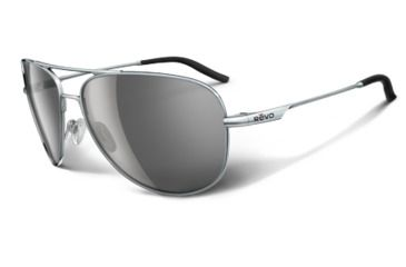 Revo Windspeed Polished Chrome Metal Frame, Graphite Lens Sunglasses - RE3087-04