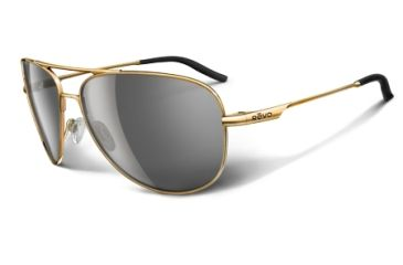 Revo Windspeed Polished Gold Metal Frame, Graphite Lens Sunglasses - RE3087-05